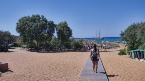 Cestička k pláži Ramla Bay Beach